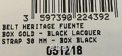 Boucle En Édition Limitée S. T. Dupont Opus X Avec Ceinture Noire, 051218, Nouvelle Boîte