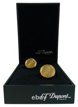 Cufflinks S. T Dupont Gold James Bond Edition Limitée 007 France Paris Rare
