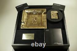 Dupont Skulls Cowboy Feuerzeug Briquet Aschenbecher Bronze Limited Edition 111