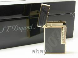 Edition Limitée S. T. Dupont James Bond 007 016169 Black Laquer Lighter New