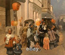 Jouet Peddler De Dupont Street, Chinatown, S. F. 1905 Mian Situ Giclee Canvas