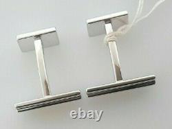 Montblanc Sartorial Sterling Silver Cufflinks 112909 Mrrp 395 $ Édition Limitée