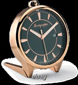 Montegrappa Fortuna Table Horloge Pvd Rosegold Idfotcrb Mrrp 395 $ Édition Limitée