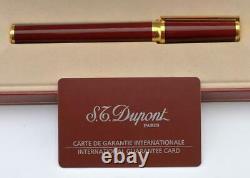 Nouveau Président De S. T. Dupont Grenat Montparnasse Fountain Pen Edition Limitée 18k
