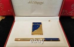 Rare Edition Limitée S. T. Dupont Europa Lighter And Pen Set #918/4000