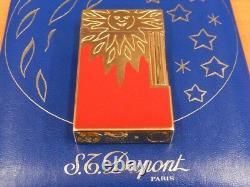 Rare S. T Dupont Original Lighter Rendez Vous Sun Soleil Edition Limitée