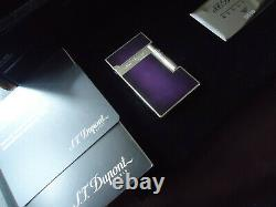 S. T. Dupont Atelier L2 Lighter Purple Chinese Laquer Edition Limitée