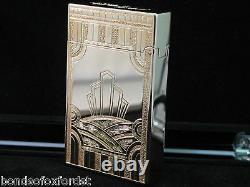 S. T. Dupont Edition Limitée Art Déco Rose Or Ligne 2 Lighter #0132/1930