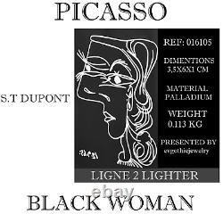 S. T. Dupont Edition Limitée Picasso St016105 Black Natural Lacquer Lighter