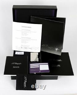 S. T. Dupont Gatsby Lighter Diamond Drops Limited Edition 16 Diamonds New In Box