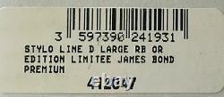S. T. Dupont James Bond Limited Edition 007 Rollerball Pen, 412047, Nouveau En Boîte