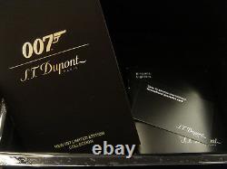 S. T. Dupont Limited Edition 007 Ligne 2 Lighter Black & Gold #1500/1962 (0161669)