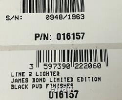 S. T. Dupont Line 2 Limited Edition James Bond 007 Pvd Lighter 016157, Nouveau En Boîte