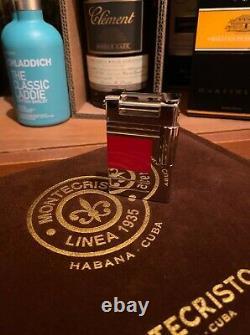 S. T. Dupont Red Urban Abstraction(s) Édition Limitée Palladium Lighter Numéroté