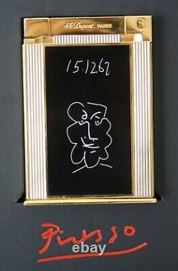 S. T. Dupont Tischfeuerzeug Table Lighter Picasso Edition Limitée 1998