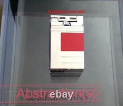 St Dupont Abstractions Red Lacquer Limited Edition Urban Lighter Palladium Nouveau