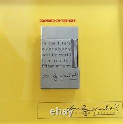 St Dupont Andy Warhol Self Portrait Limited Edition Ligne 2 Briquet Laque Nouveau