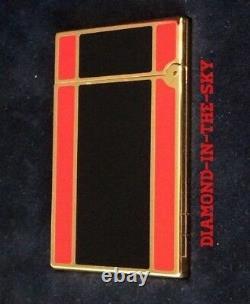St Dupont Art Déco 1996 Ligne 2 Ligne 2 Édition Limitée Briquet Noir Laque Rouge