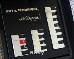 St Dupont Art & Technique Limited Edition Lighter Set, Entièrement Encadré Avec Des Papiers