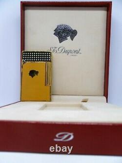 St. Dupont Cohiba Line 2 Lighter Gold And Yellow Chinese Lacquer Limited Edition