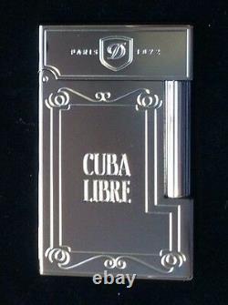 St Dupont Cuba Libre Palladium Ligne 2 Ligne 2 Limited Edition Briquet Seulement 500