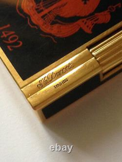 St Dupont Feuerzeug'1492' Edition Limitée 2002/3000 Original Lederbox