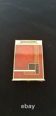 St Dupont Gold Dust Red Laquer Table Jeroboam Limited Edition Lighter Rare