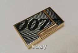 St Dupont Lighter Accendino James Bond 007 Gold Box&papers Limited Edition