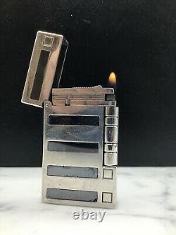 St Dupont Ligne 2 Inspiration Nature Edition Limitée Hématite Platinum Lighter