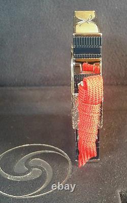 St Dupont Limited Edition Samurai Line 2 Ligne 2 Briquet Laque Platinum Nouveau