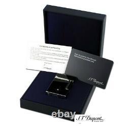 St Dupont Line 2 Solitaire Diamond Lighter Limited Edition Bnib Palladium Laquer