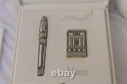 St. Dupont Medici Limited Edition Duo Set Lighter + Fountain Pen, Bnib # 165