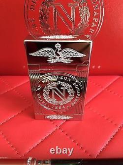 St Dupont Napoleon Linge 2 Ligne 2 Limited Edition Platinum Lighter And Pen Set