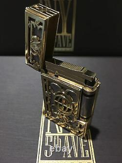 St Dupont Ny 5th Ave Linge 2 Line 2 Limited Edition Gold Lighter Purple Laquer