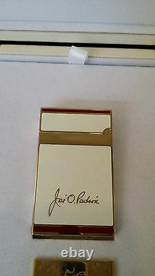 St Dupont Padron Limited Edition Gold W White Lacquer Linge Line 2 Briquet 50e