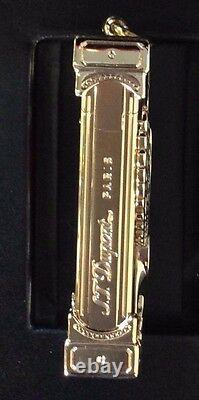 St Dupont Phoenix Renaissance Linge Line 2 Limited Edition Gold Lighter Red Lacq
