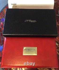 St Dupont Phoenix Renaissance Writing Kit F Pen Limited Edition Or Laque Rouge