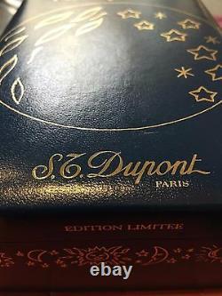 St Dupont Rendez-vous Moon Linge 2 Ligne 2 Édition Limitée Silver Lighter Blue La