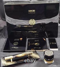 St Dupont Shanghai Limited Edition Desk 3pc Set Président Fountain Pen 230/288