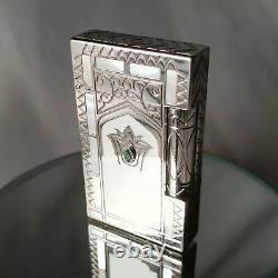 St Dupont Taj Mahal Limited Edition Platinum Et Mother-of-pearl L2 Briquet
