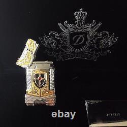 St Dupont White Knight Prestige Limited Edition Linge Line 2 Briquet Or Lacque