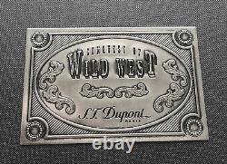 St Dupont Wild West Fountain Pen Limited Edition Platinum Wood & Leather Pouch