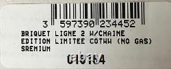 St Dupont Wild West Linge Line 2 Limited Edition Platinum Lighter Black Laquer