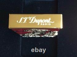 St Dupont Year Of The Goat Linge Line 2 Limited Edition Or Briquet Laque Rouge