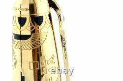 Stylo De Fontaine S. T. Dupont Pharaon 18k Gold Nib Edition Limitée Malachite France